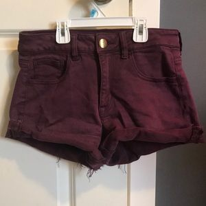Red American Eagle shorts